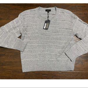 Rag & Bone Women's S Penn Crew Sweater Gray